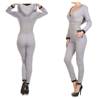 fashion jumper hoodie grey jumpsuit fall outfits body shop at www.dorcellesempire.com www.dorcellesempire.com f
