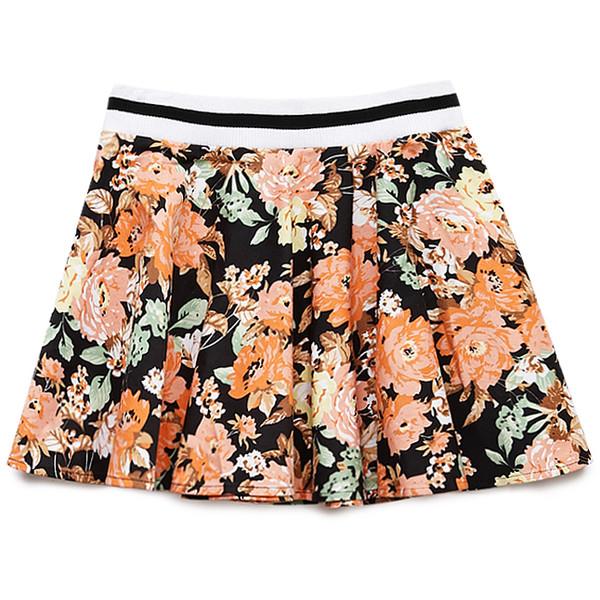 Standout Floral Skater Skirt - Forever 21 - Polyvore