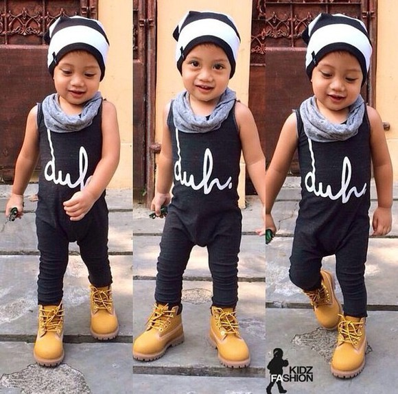 boys toddler swag kids fashion timberlands hipster duh beanie