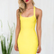 Cross my mind bandage dress in yellow | blackswallow fashion online shopping - black swallow boutique