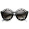 Cross my heart round frame sunglasses at flyjane