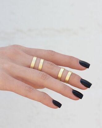 jewels ring jewelery gold knuckle ring modern grunge gold ring