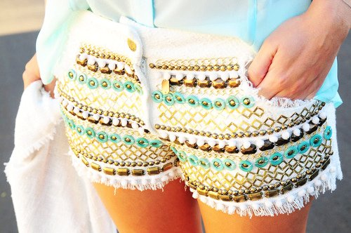 Bohemian shorts for girls