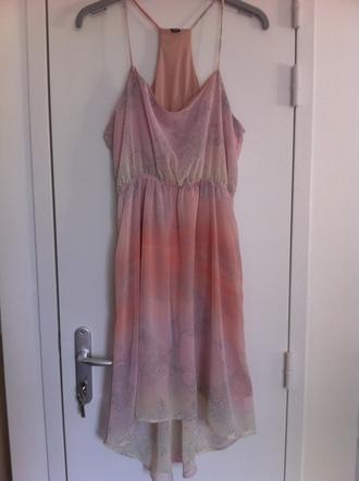 dress vieux rose pimkie serpent bretelles spaghetti strap pastel pastel dress snake print