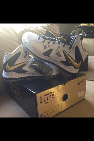 shoes nike shoes nike basketball boots basketball gold grey shoes