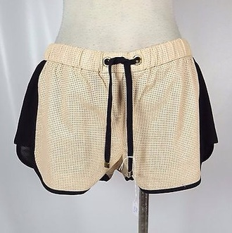 shorts gold shorts black shorts juicy couture faux leather