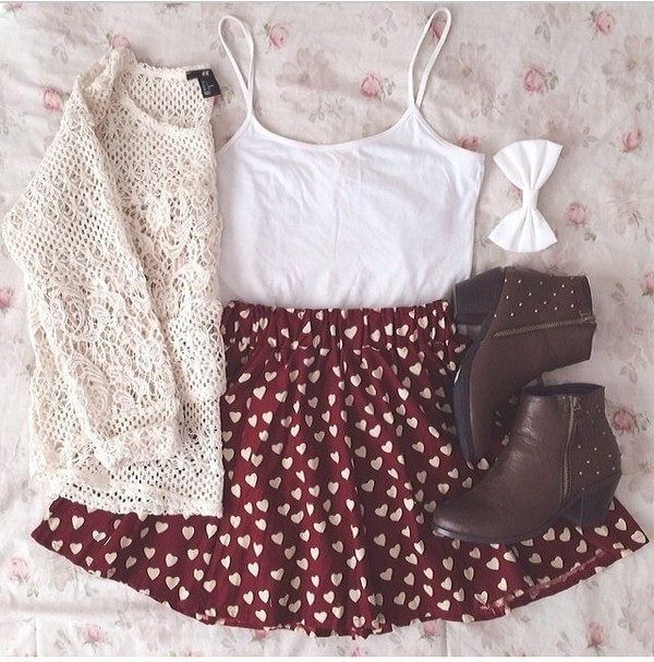shoes cardigan cardigan skirt white red fashion