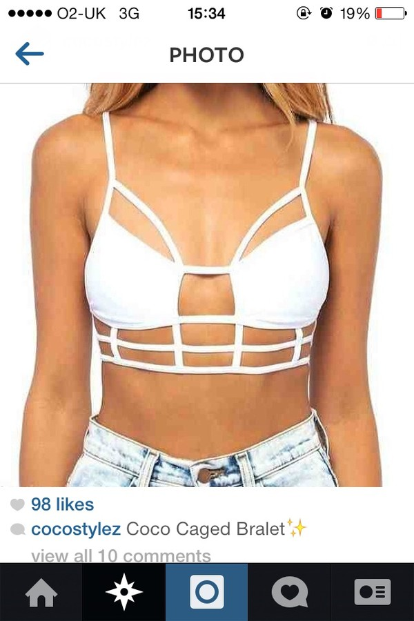 tank top white crop tops black cage top cut out white crop tops summer