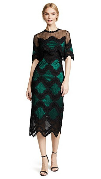 Costarellos dress midi black green