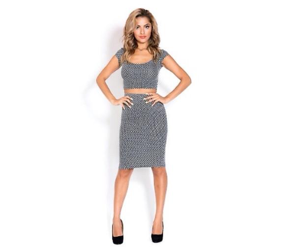 """checkers"" crop top& midi skirt set – mod marie boutique"