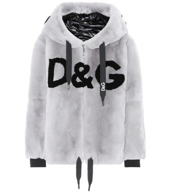Dolce & Gabbana hoodie fur grey sweater