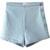 Light Blue High Waist Casual Denim Shorts