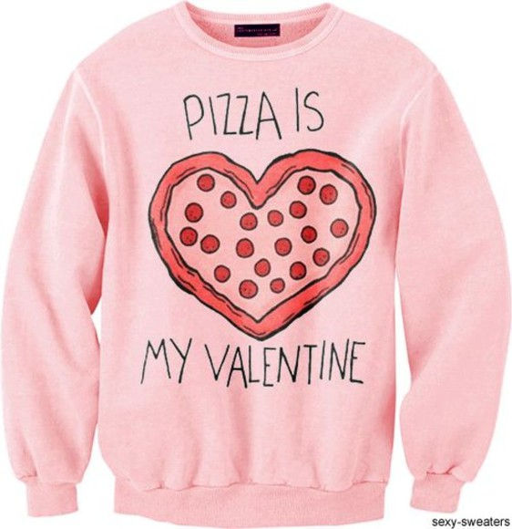 valentine pink sweater pizza