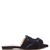 Bow-front velvet slipper shoes