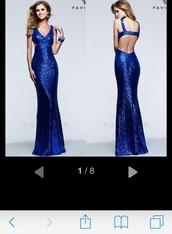 dress,blue dress,sequin prom dress