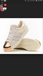 adidas,originals,metallic,toe,shoes,adidas shoes,métallique,superstar,bronze,cr?me,adidas superstars,metal toe rose