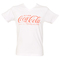 Men's white v-neck coca-cola t-shirt : truffleshuffle.com