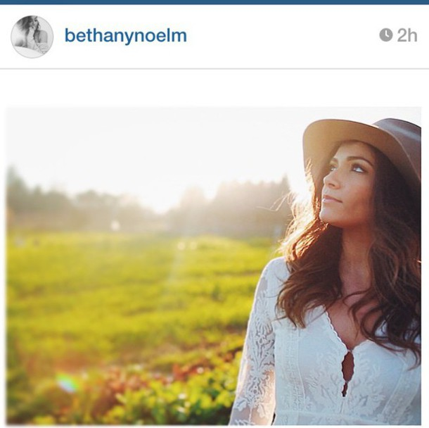 white dress hat bethany mota