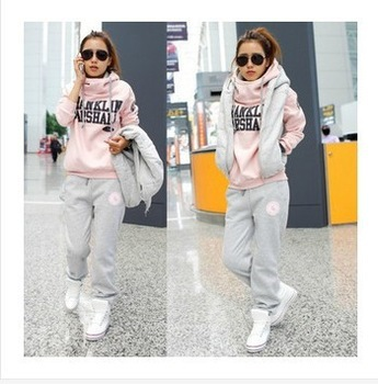 Aliexpress.com : Buy Top Quality New 2014 Women's Tracksuits Sportwear Plus Size Winter Korean Fleece Sweatshirt Pants Vest Three Piece Suits from Reliable suit jacket suppliers on Lady Go