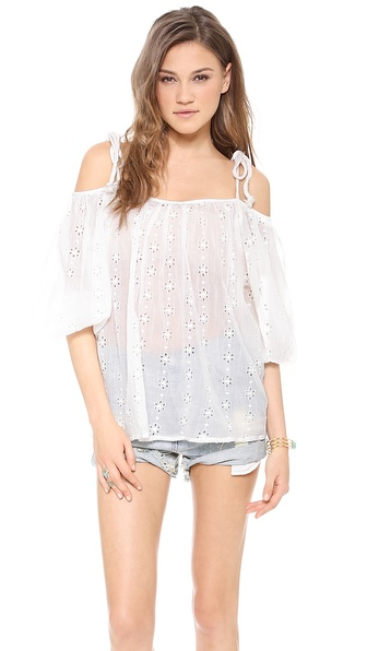 Mes demoiselles elvina open shoulder top