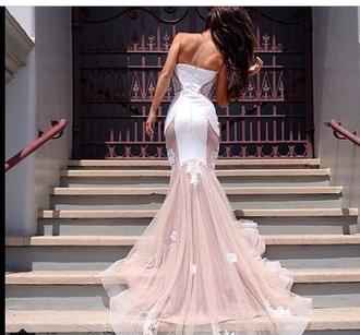 dress nude dress lace dress white