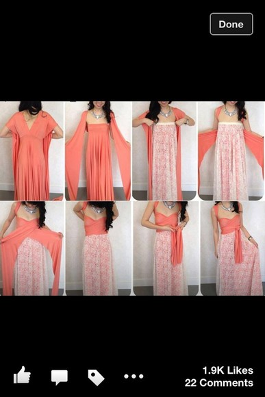 dress maxi dress wrap maxi white pink multiway infinity dress lace dress