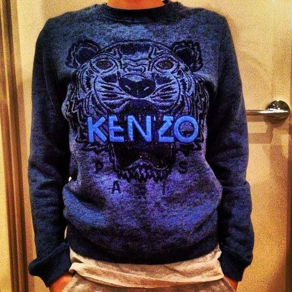 sweater kenzo sweater blue black