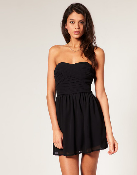 Dress: black, cute, love, black dress, black mini dress - Wheretoget