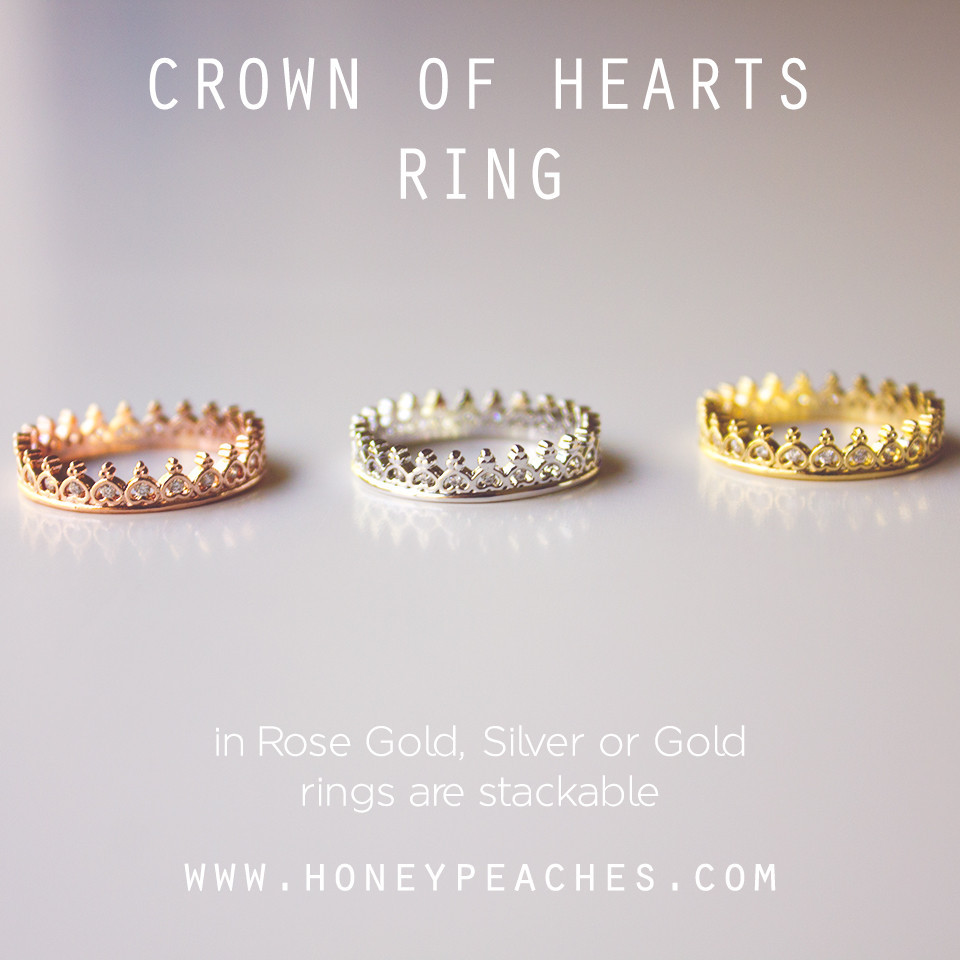 Crown of Hearts Ring – Honey Peaches