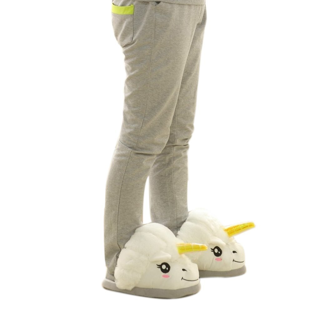 Amazon.com: plush unicorn slippers for grown ups: toys & games