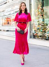 sydne summer's fashion reviews & style tips,blogger,shorts,dress,skirt,shoes,jewels,bag,pink pumps,pink dress,new year's eve,evening dress