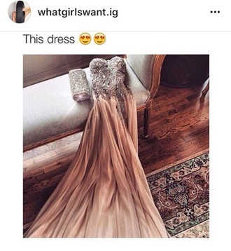 dress prom nude sparkle gown strapless prom dress prom gown strapless dress