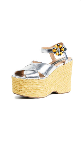 wedges silver shoes