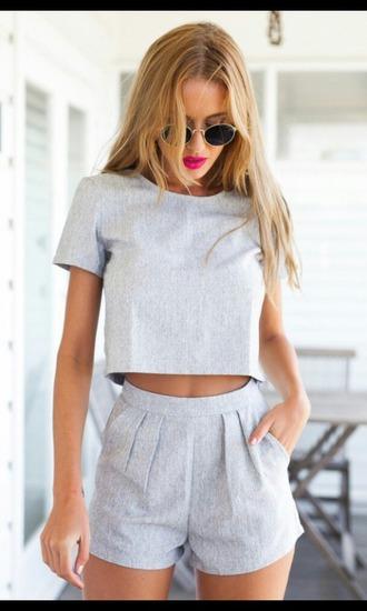 dress shorts crop tops