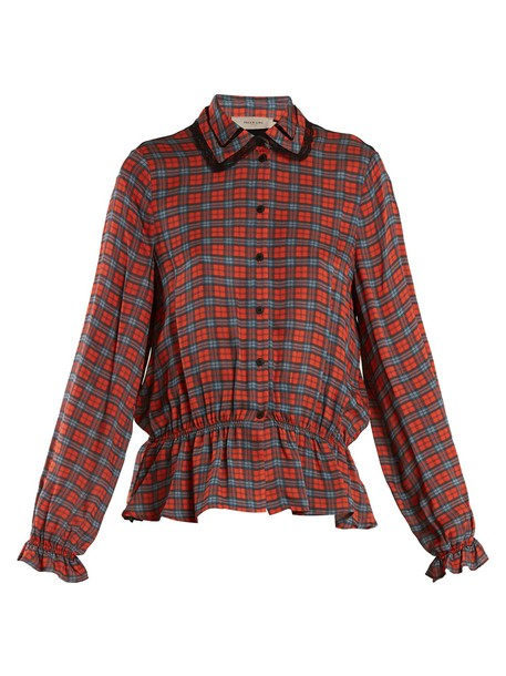 Preen Line shirt back red top