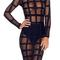 Preorder meshmerizing bandage dress - noir