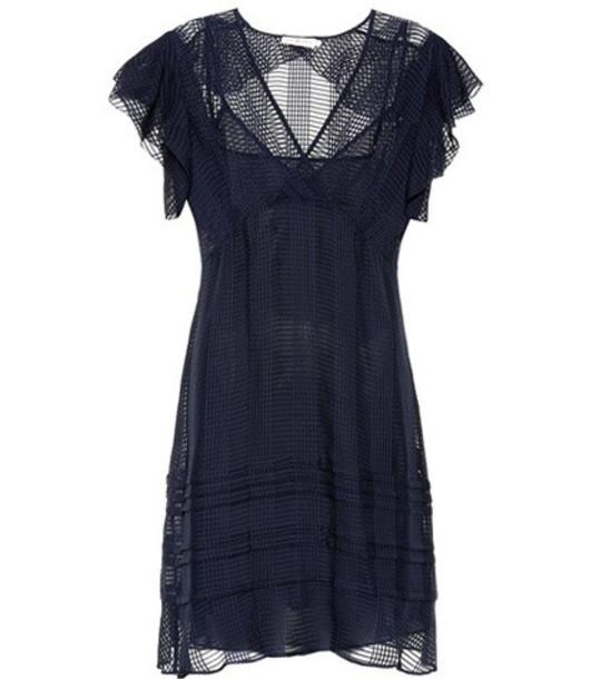 Tory Burch Madison silk dress in blue