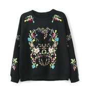 sweatshirt,black sweater,cute sweater,pullover,embroidered sweatshirt,fall outfits