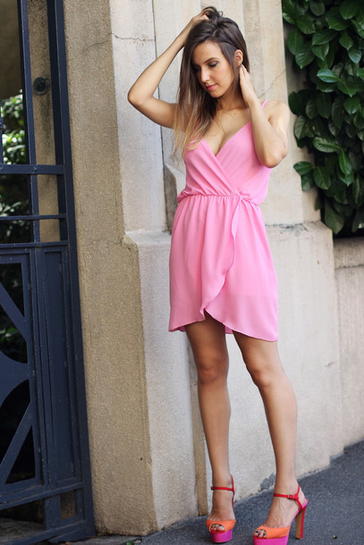 fashion quite, jewels, t-shirt, shoes, high heels, pink ...