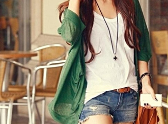 shorts shirt t-shirt summer outfits sweater jeans coat belt bracelets necklace jewels