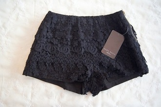 shorts zara black shorts detail pattern pants where to get this pants? black