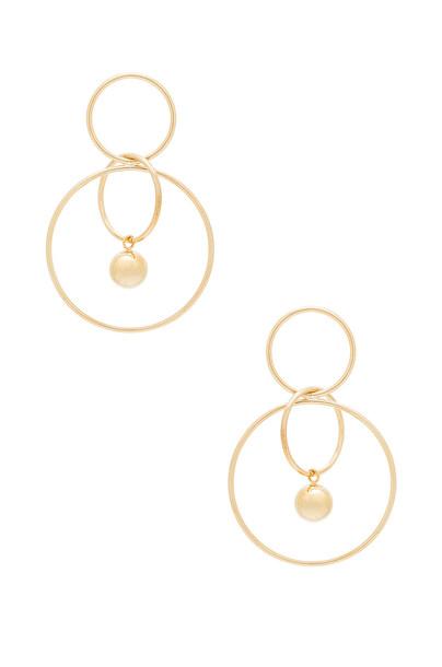 WANDERLUST + CO earrings hoop earrings metallic gold jewels