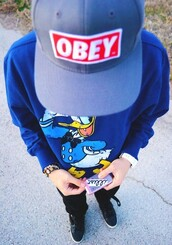sweater,blue,donald duck,jumper