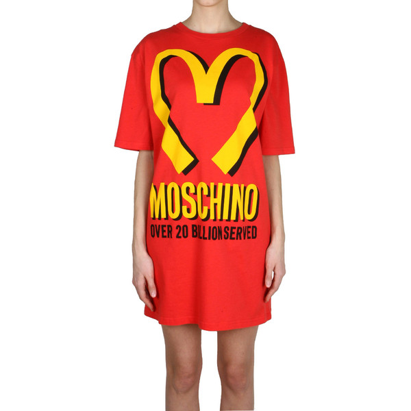 Moschino Runway Capsule Collection Oversized cotton jersey t... - Polyvore