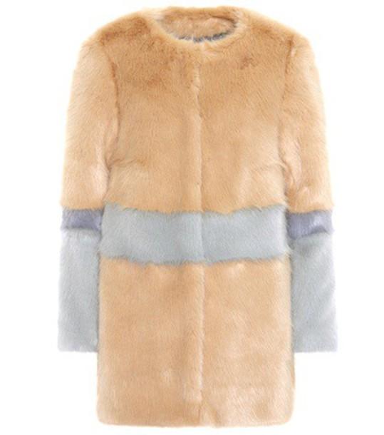 Shrimps jacket faux fur jacket fur jacket fur faux fur beige
