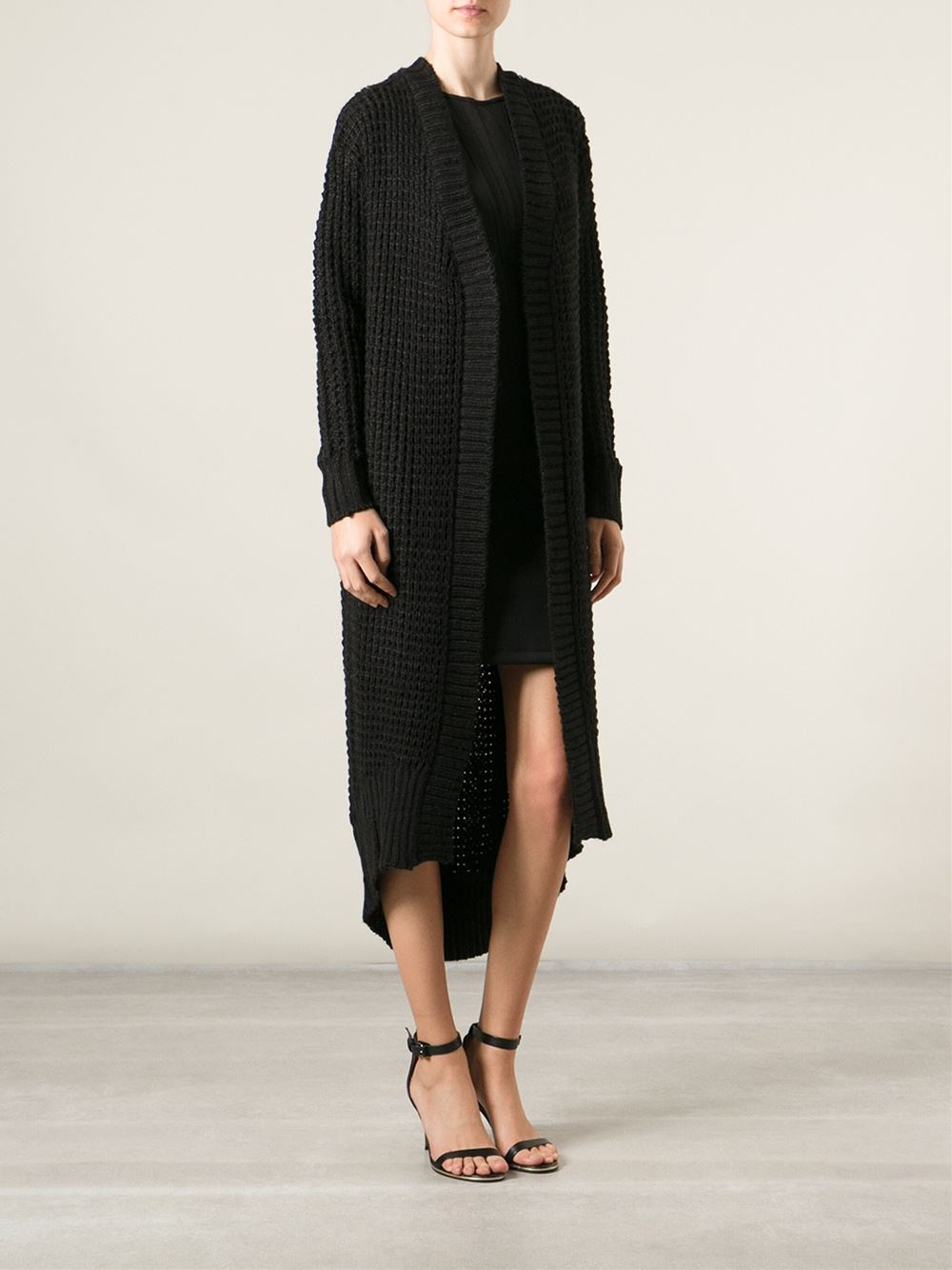 Pop cph chunky knit long cardigan