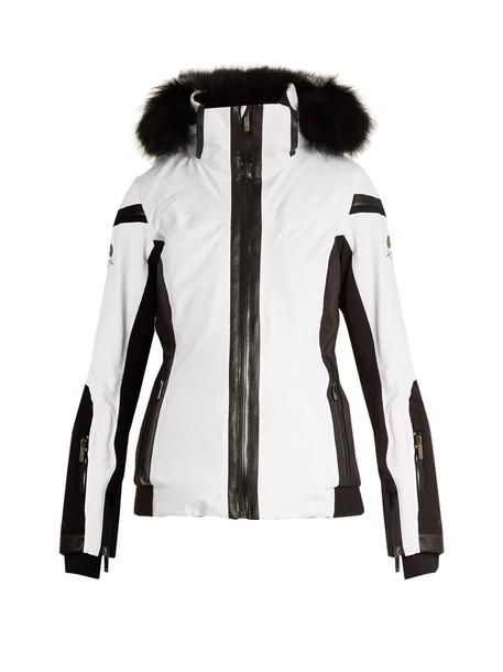 Lacroix jacket fur white black