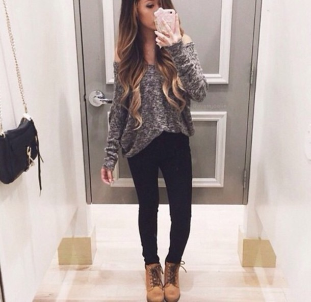 jeans sweater top grey white romper phone cover