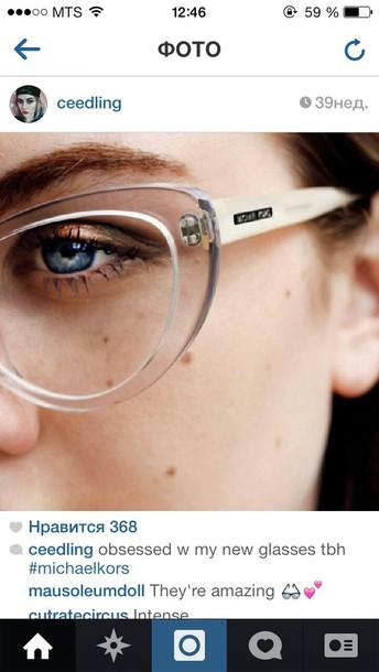 sunglasses glasses clear frames michael kors frames clear ceedling white - Michael Frames