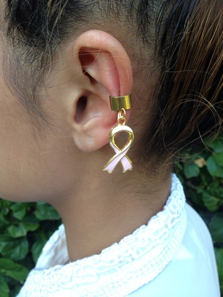 jewels ear cuff breast cancer ear cuffs gold ear cuff breast cancer awareness